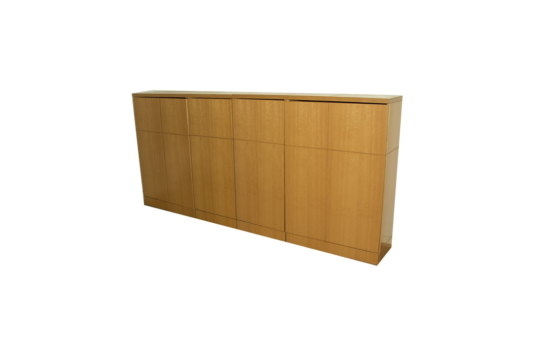 Set of Knoll Wood Cabinets