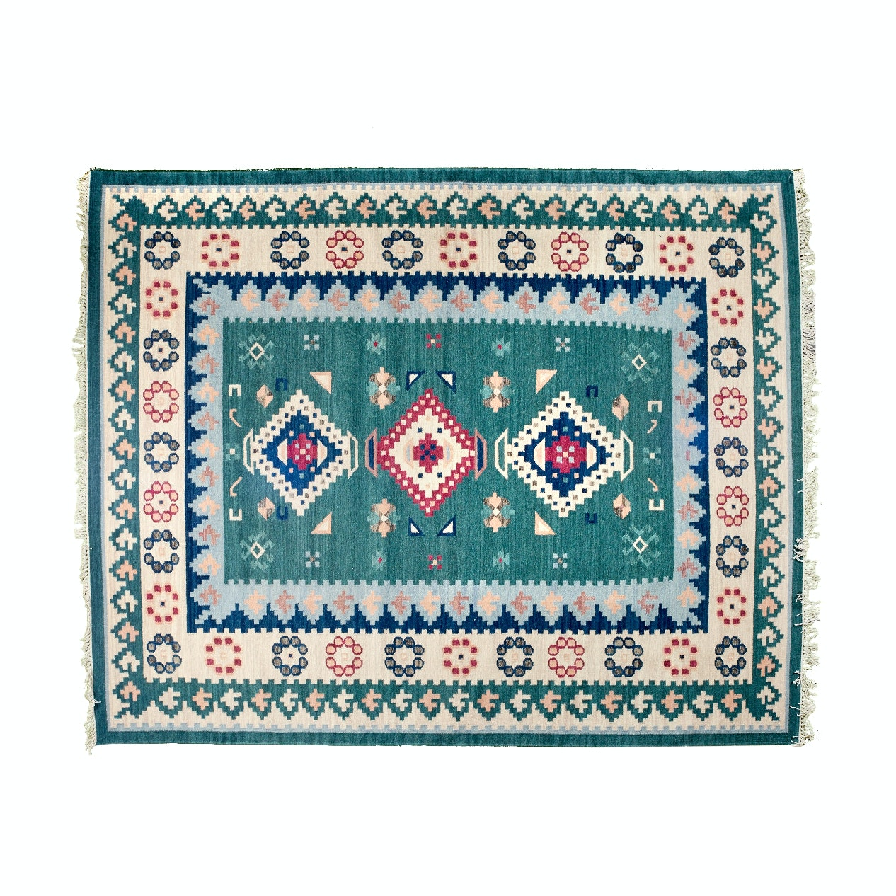Indian Flatwoven Dhurrie Rug