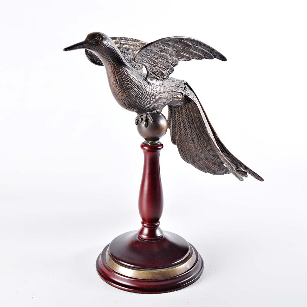 Brass Bird on Pedestal