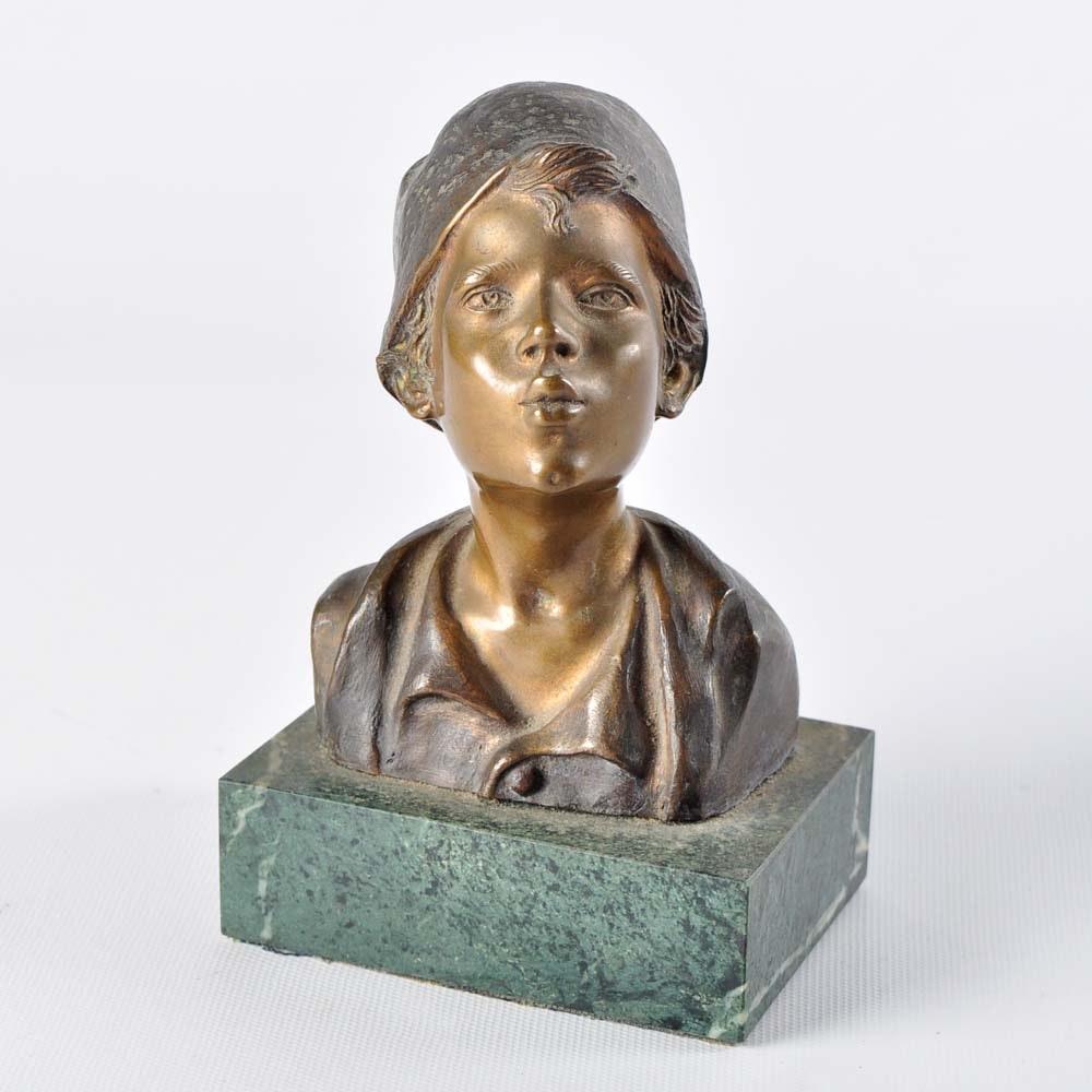 Brass Giovanni de Martino Sculpture After Bronze