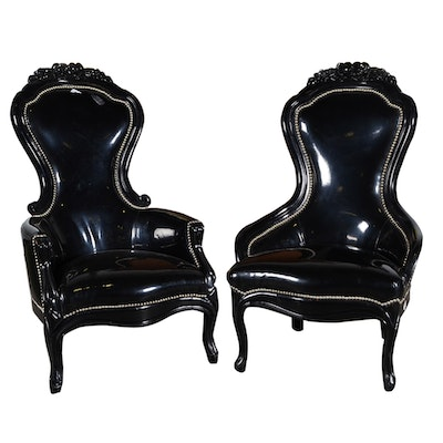 Victorian Style King and Queen Spoon Back Chairs - Vintage Chairs, Antique Chairs And Retro Chairs Auction In Art, Home