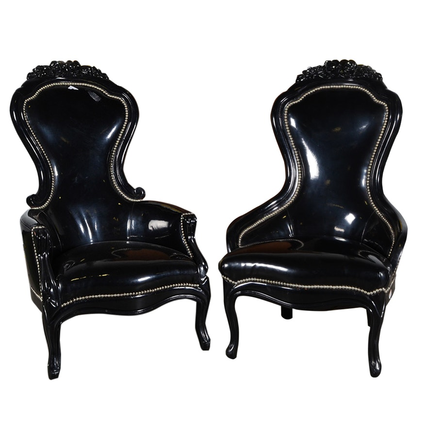 Victorian Style King and Queen Spoon Back Chairs ... - Victorian Style King And Queen Spoon Back Chairs : EBTH