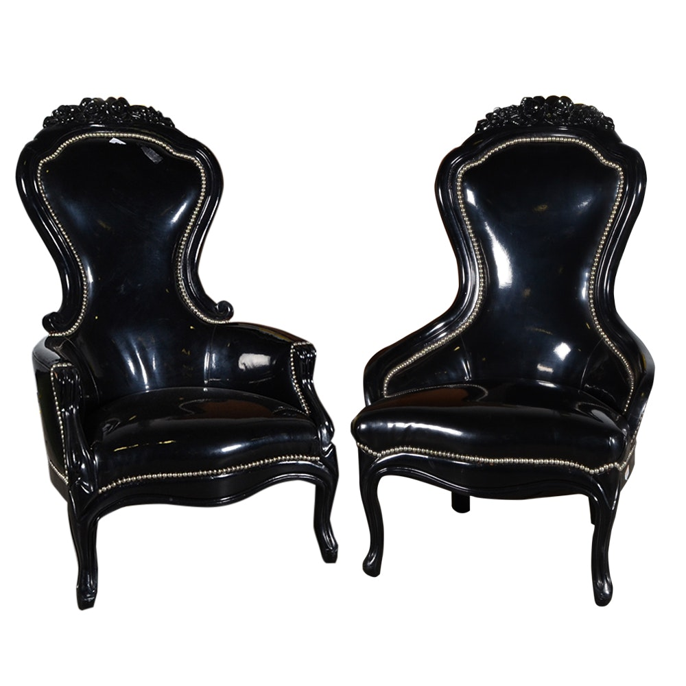 Victorian Style King And Queen Spoon Back Chairs ...