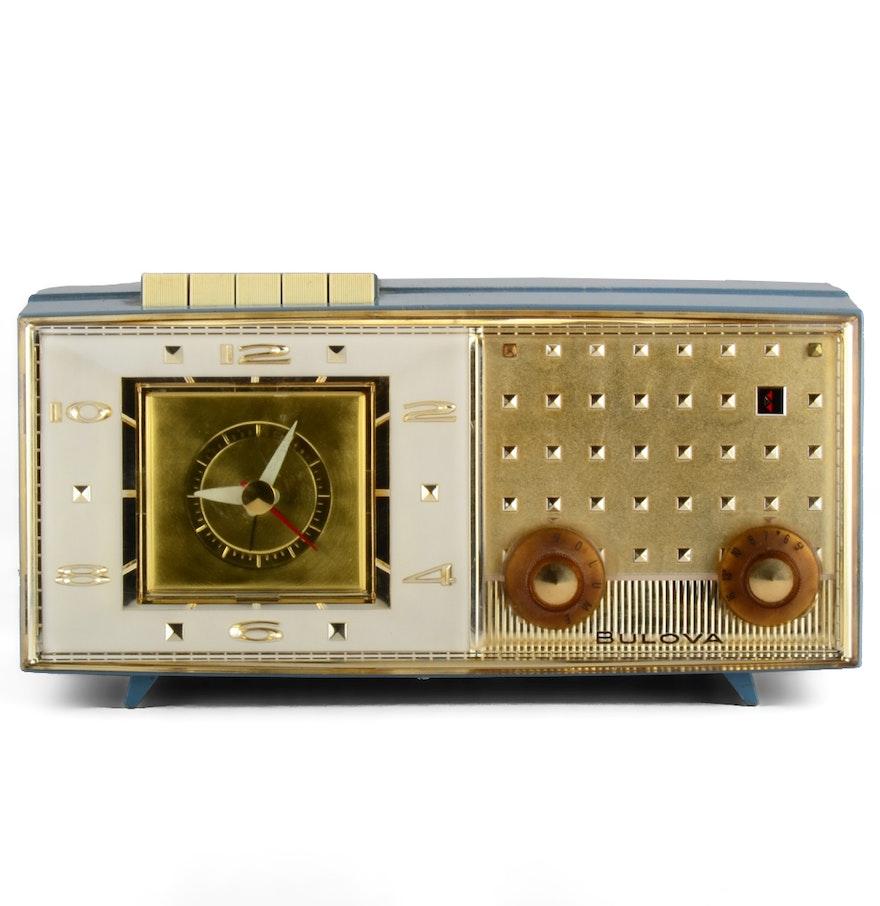 Vintage Bulova Clock Radio : EBTH