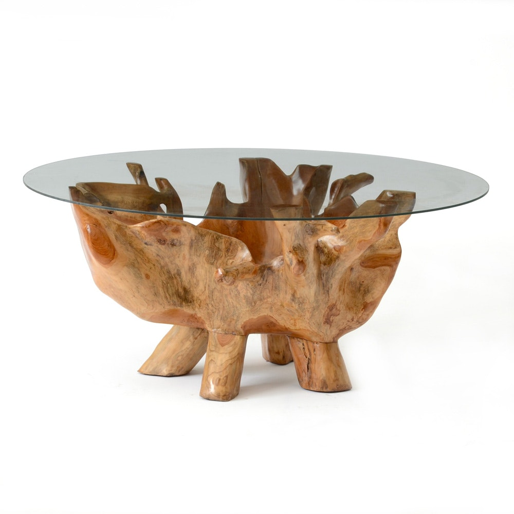 Natural Root Sculpted Coffee Table