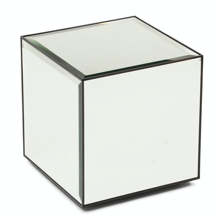 Mirrored Cube End Table EBTH - Mirrored cube end table