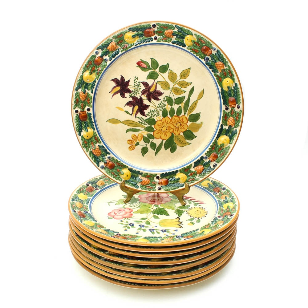 Hand Painted Royal Adams Ivory Titian Ware Dinner Plates ...  sc 1 st  EBTH.com & Hand Painted Royal Adams Ivory Titian Ware Dinner Plates : EBTH