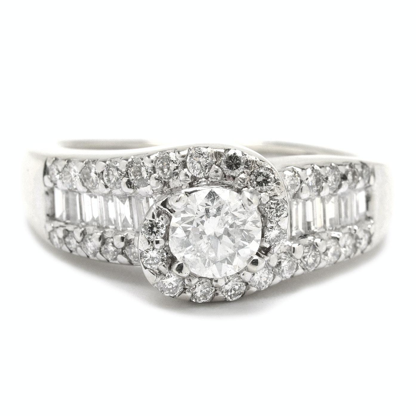 10K Yellow Gold Diamond Statement Ring