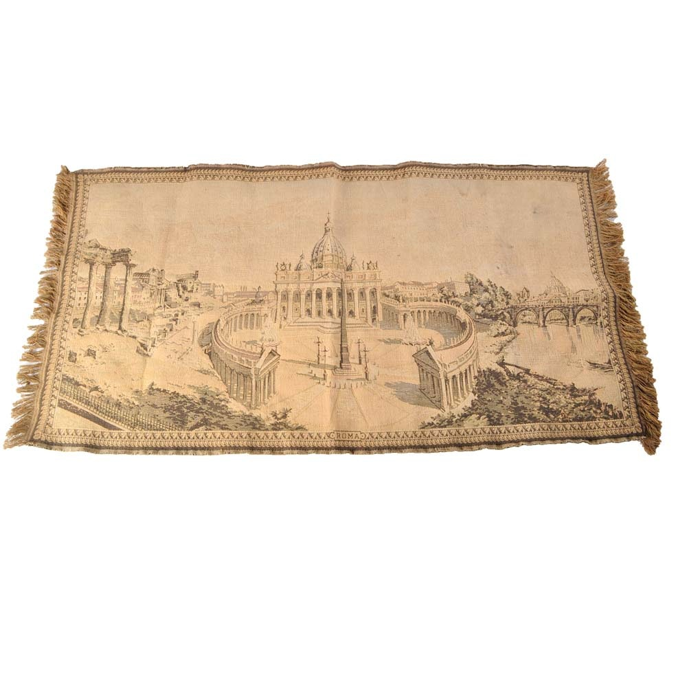 Vintage Wall Tapestry of The Vatican