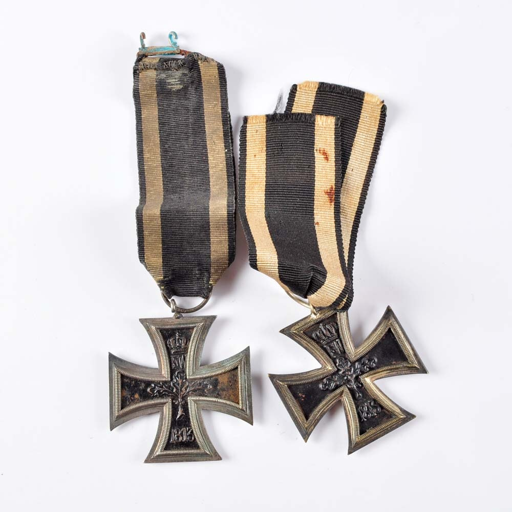 Pair of German WWI Iron Cross Medals