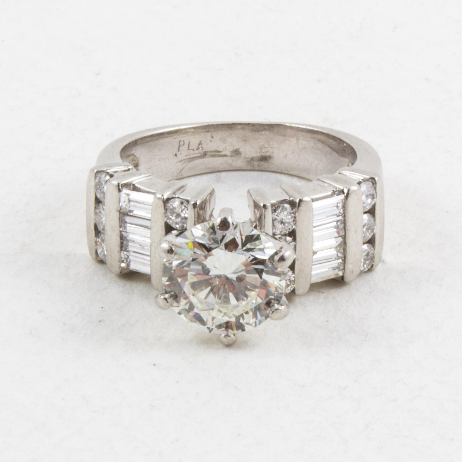 Women's Diamond and Platinum Ring