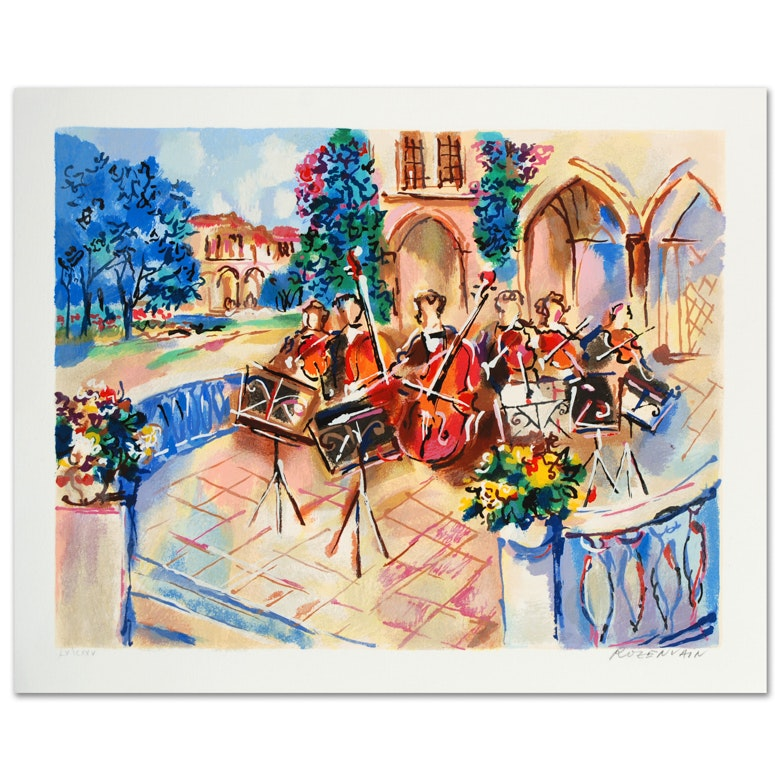 "Michael Rozenvain Limited Edition Signed Serigraph ""Orchestral Balcony"""