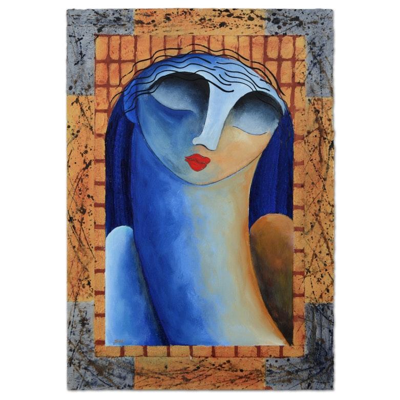 Gaylord Soli Original Mixed Media Acrylic Painting