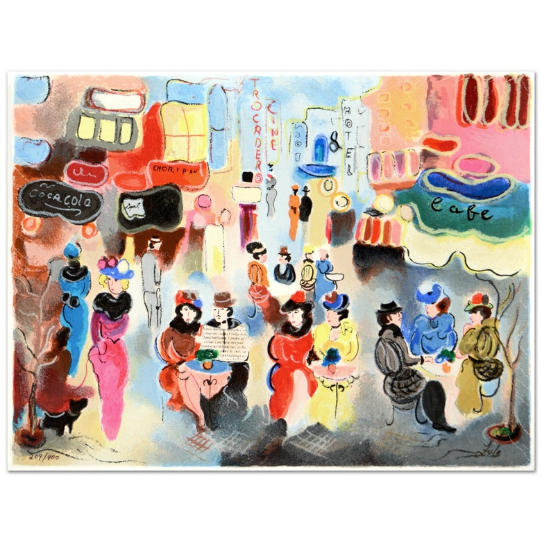 """Aaron Zule """"Buenos Aires"""" Signed Limited Edition Serigraph"""