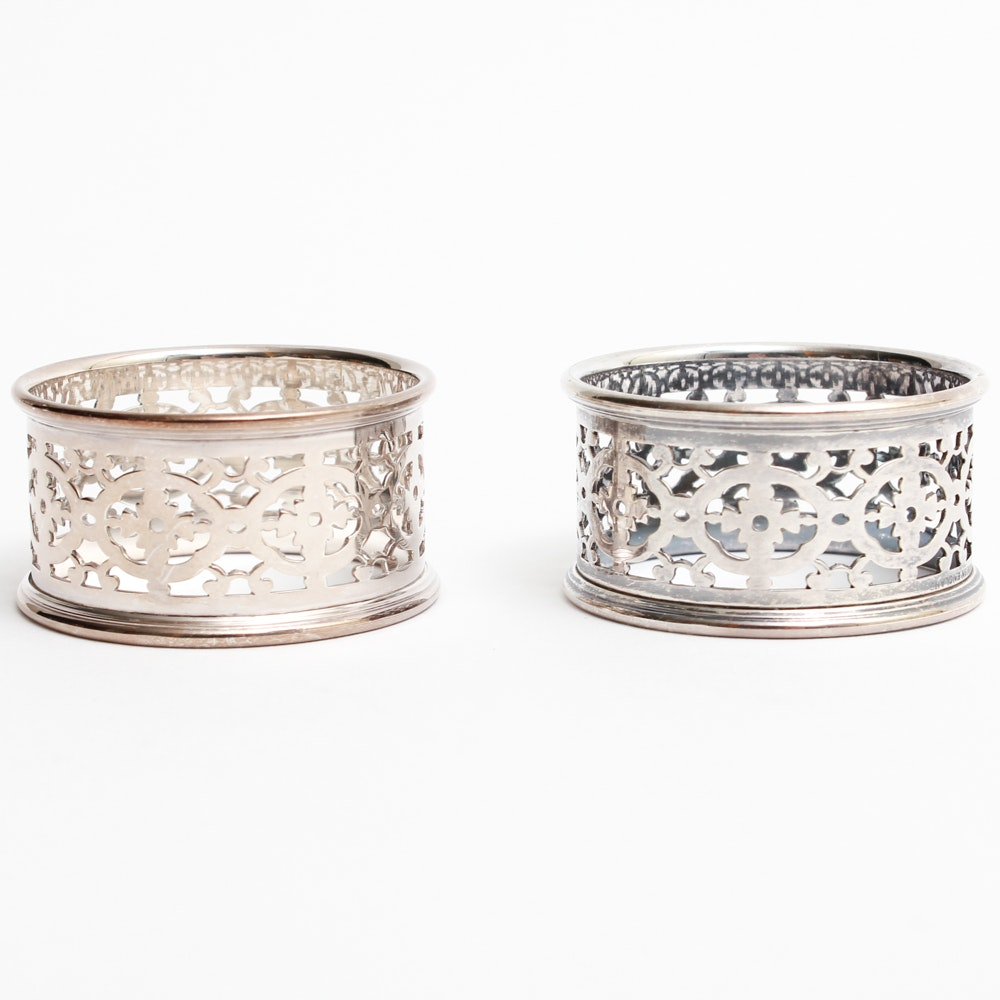 Pair of Silver Plate Napkin Rings