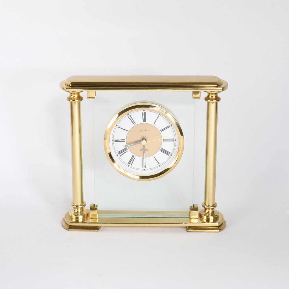 Linden Brass Table Clock ...