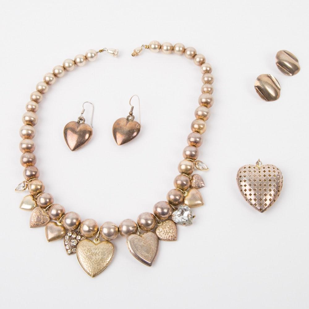 Silver Tone Fashion Jewelry