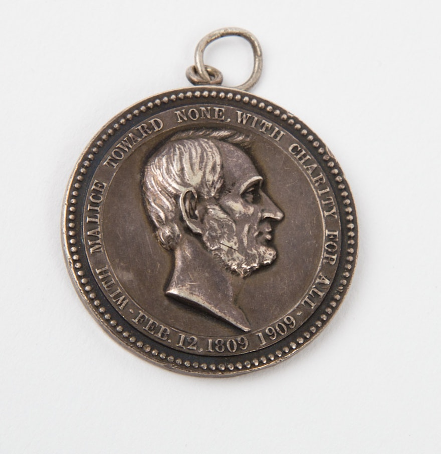 1909 tiffany co abraham lincoln essay contest silver medallion abraham lincoln essay contest silver medallion