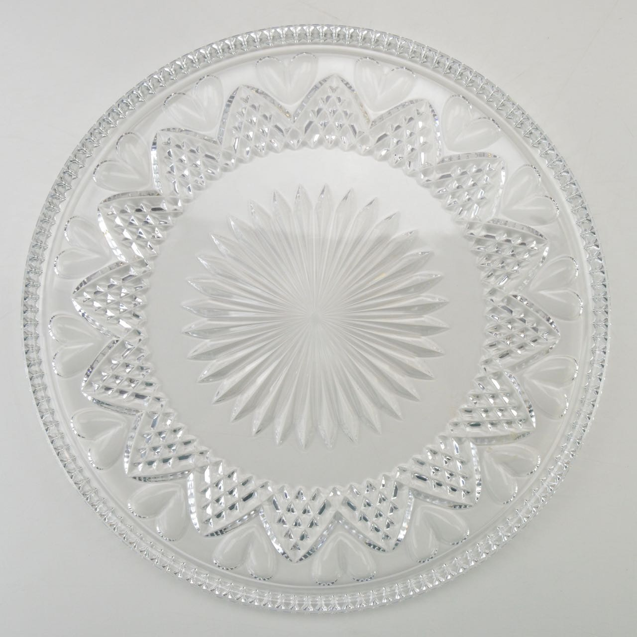 "Waterford Crystal ""Wedding Heirloom Collection"" Cake Plate"