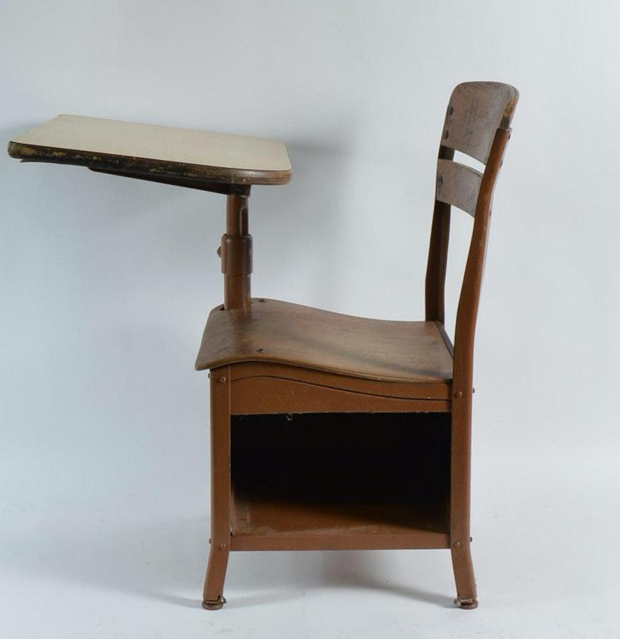 Vintage Wooden School Desk : EBTH
