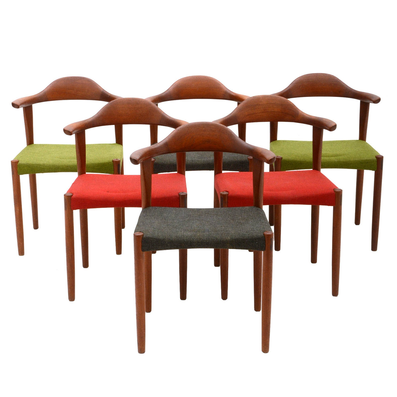 Set of Six Randers Modelfabrik Rosewood Dining Chairs