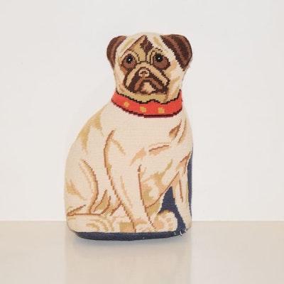 Pug Needlepoint Pillow