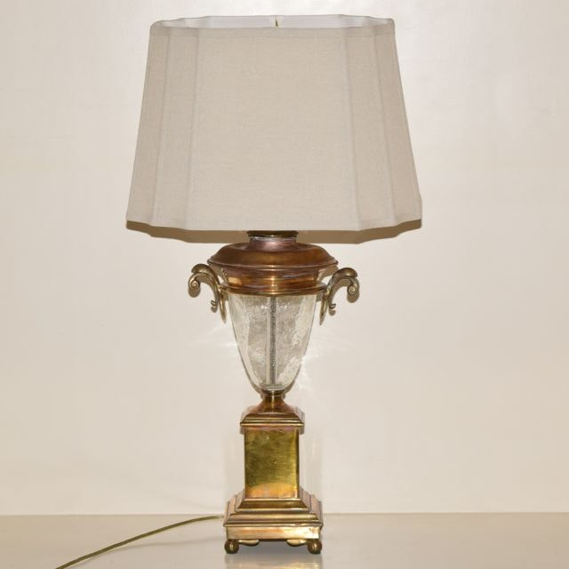 Chapman Brass And Bubble Glass Table Lamp ...
