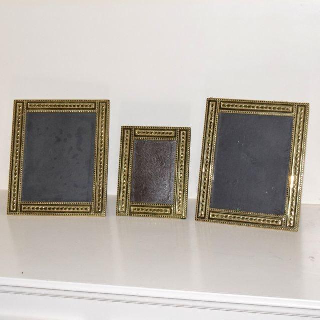 Three Virginia Metalcrafters Williamsburg Brass Frames
