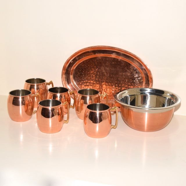 Copper Plated Serving Ware