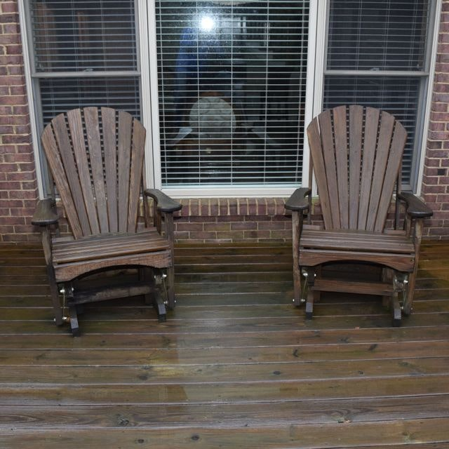 Pair of Adirondack Style Rocking Chairs