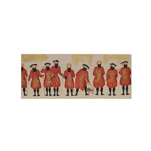 Canvas Print of French Men