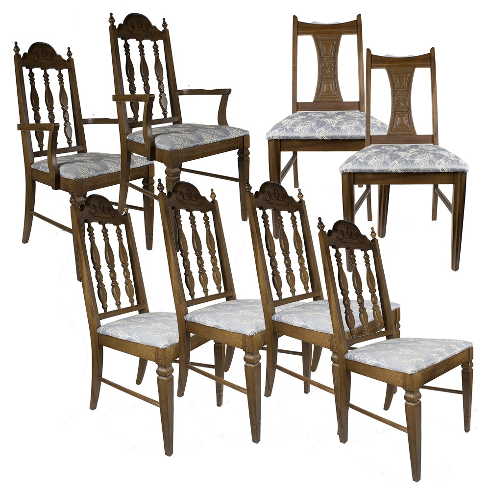 Vintage Spindle and Splat Back Dining Chairs