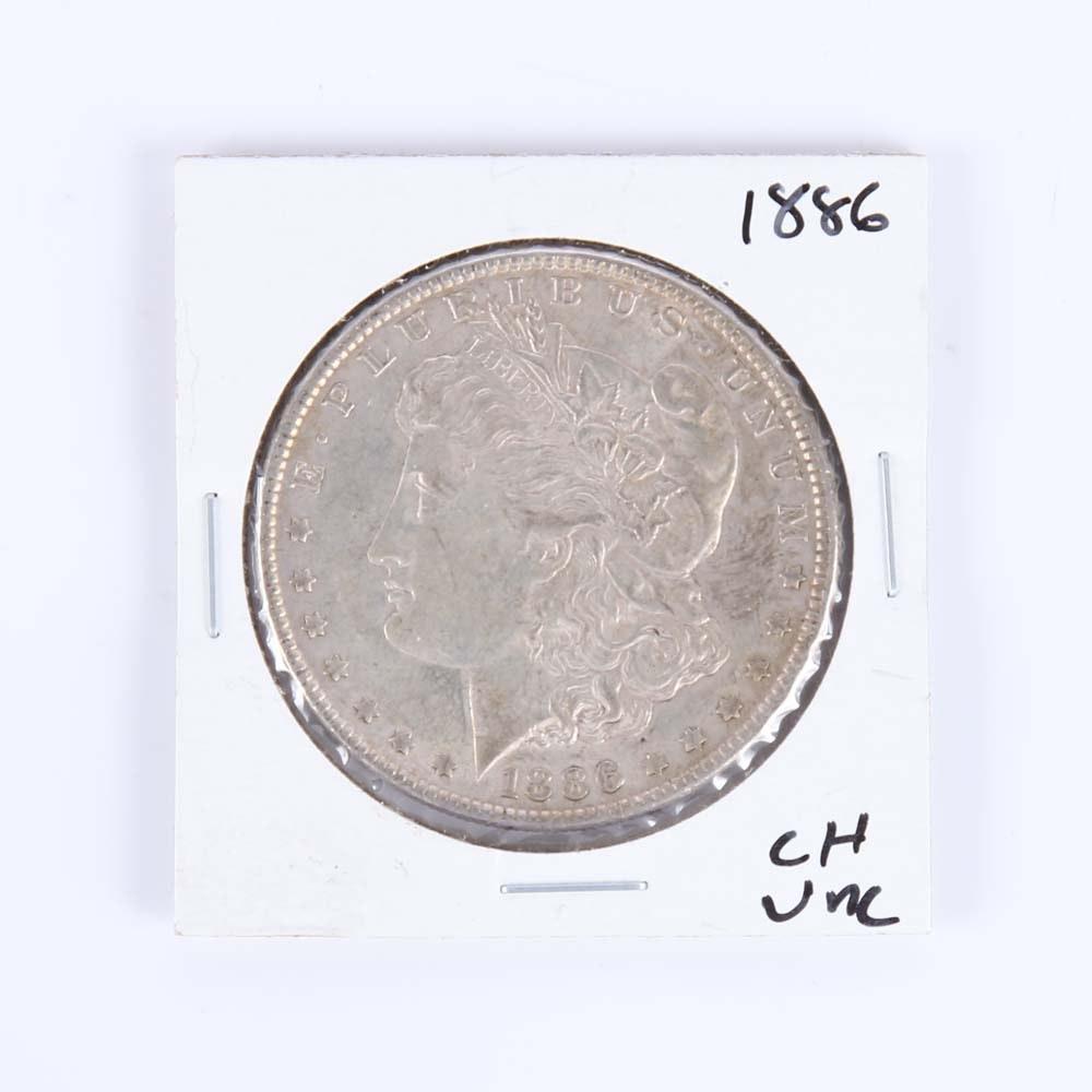 1886 Uncirculated Morgan Silver Dollar