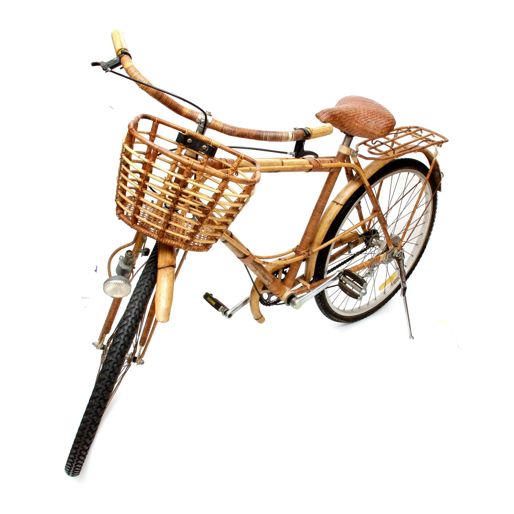 Vintage 1940s Rattan Bicycle