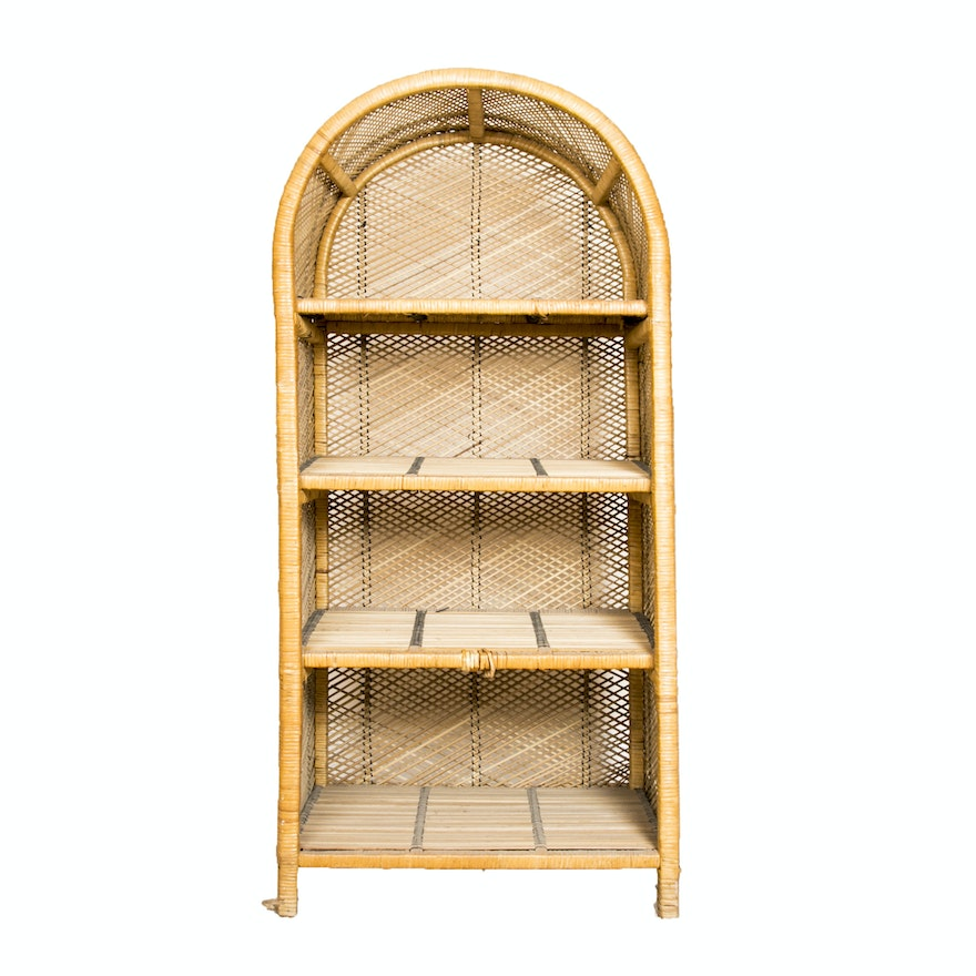 Arched Wicker Bookshelf 1x1