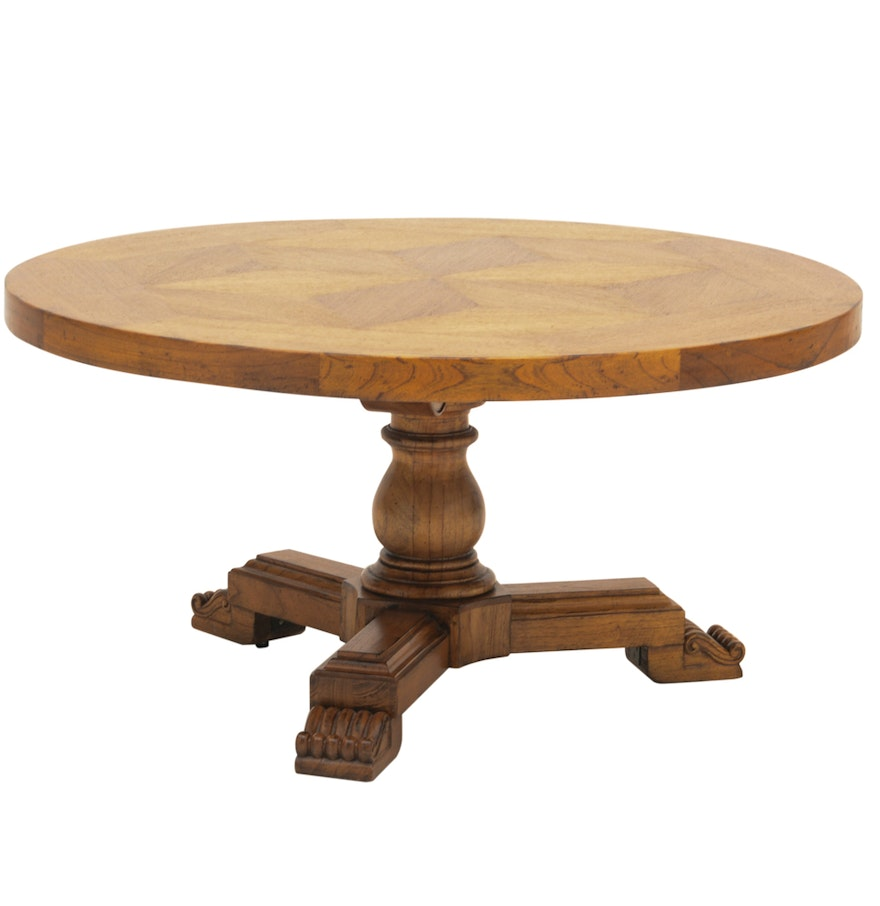Classical Style Round Coffee Table Ebth