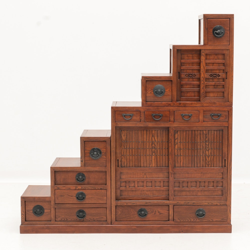 Japanese Step Tansu Chest Cabinet ...