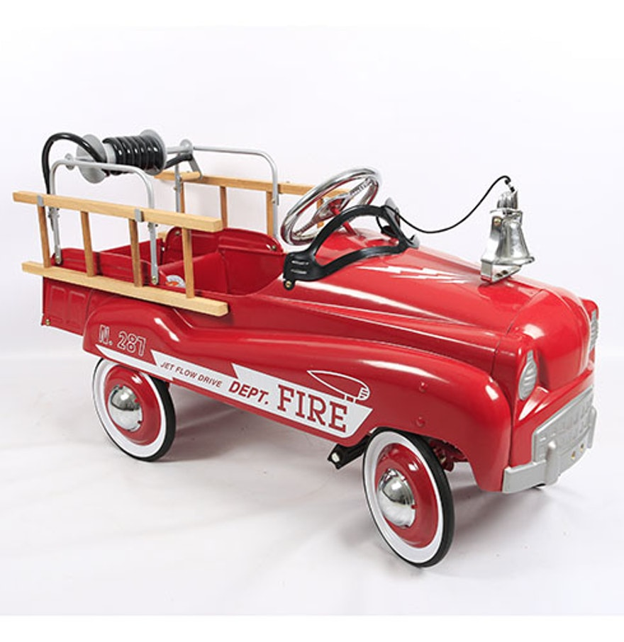 fire engine pedal car ebth