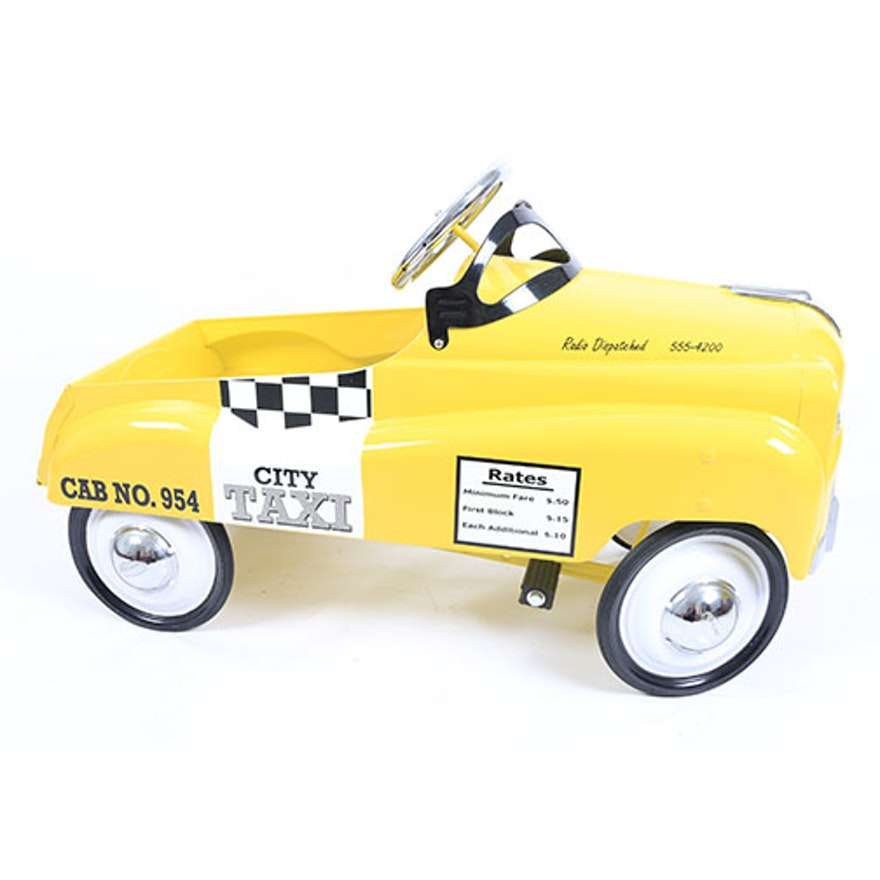 Yellow Taxicab Pedal Car
