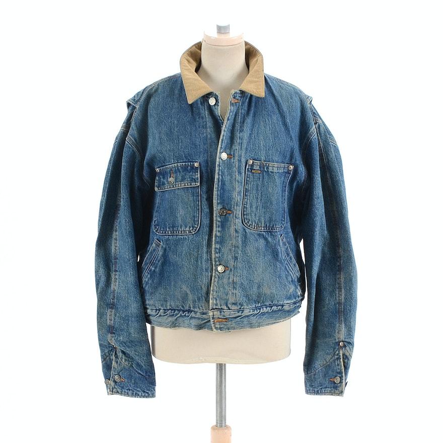 Dungarees Lined 1990s Polo Jacket Ralph Lauren Blanket Denim mvwN8n0