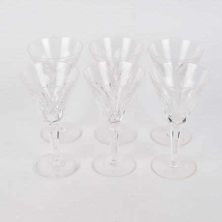 "Waterford ""Sheila"" Claret Glasses"