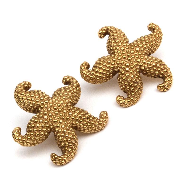 14k gold starfish earrings ebth
