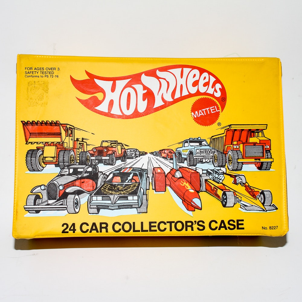 1983 Hot Wheels Collector's Case and Assorted Die-Cast Vehicles