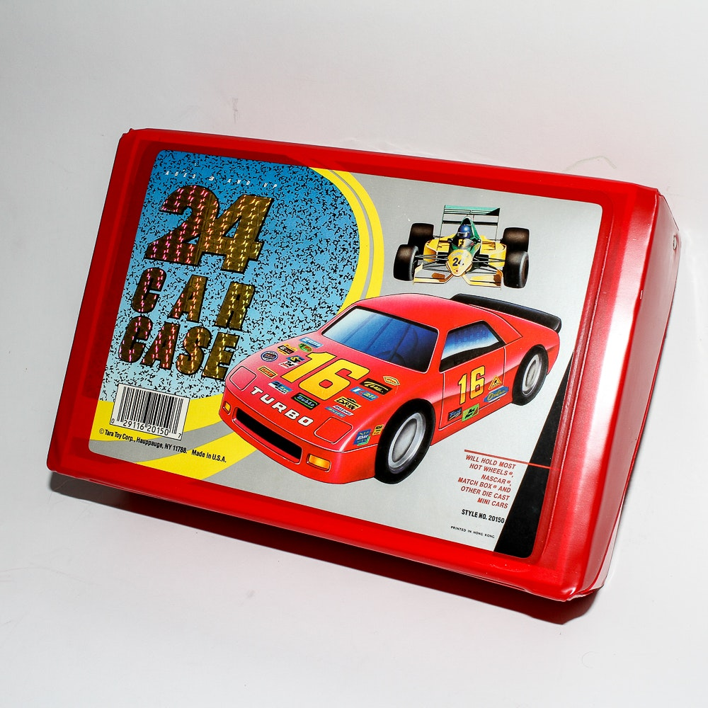 A Collection of Twenty Four Die-Cast Cars With Case