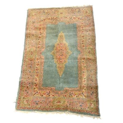 Persian Kerman Hand Woven Wool Area Rug