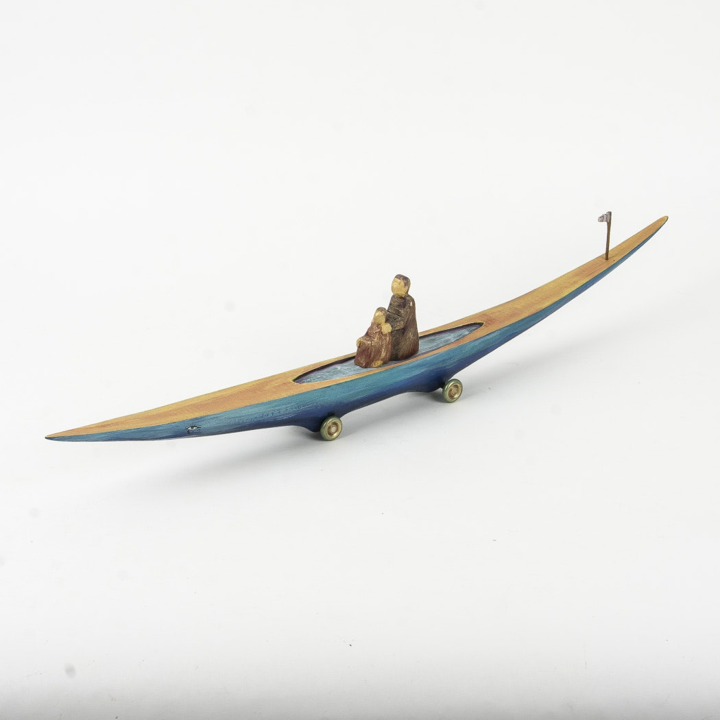 "2004 Dona Dalton ""Journey Boat"" Carving"