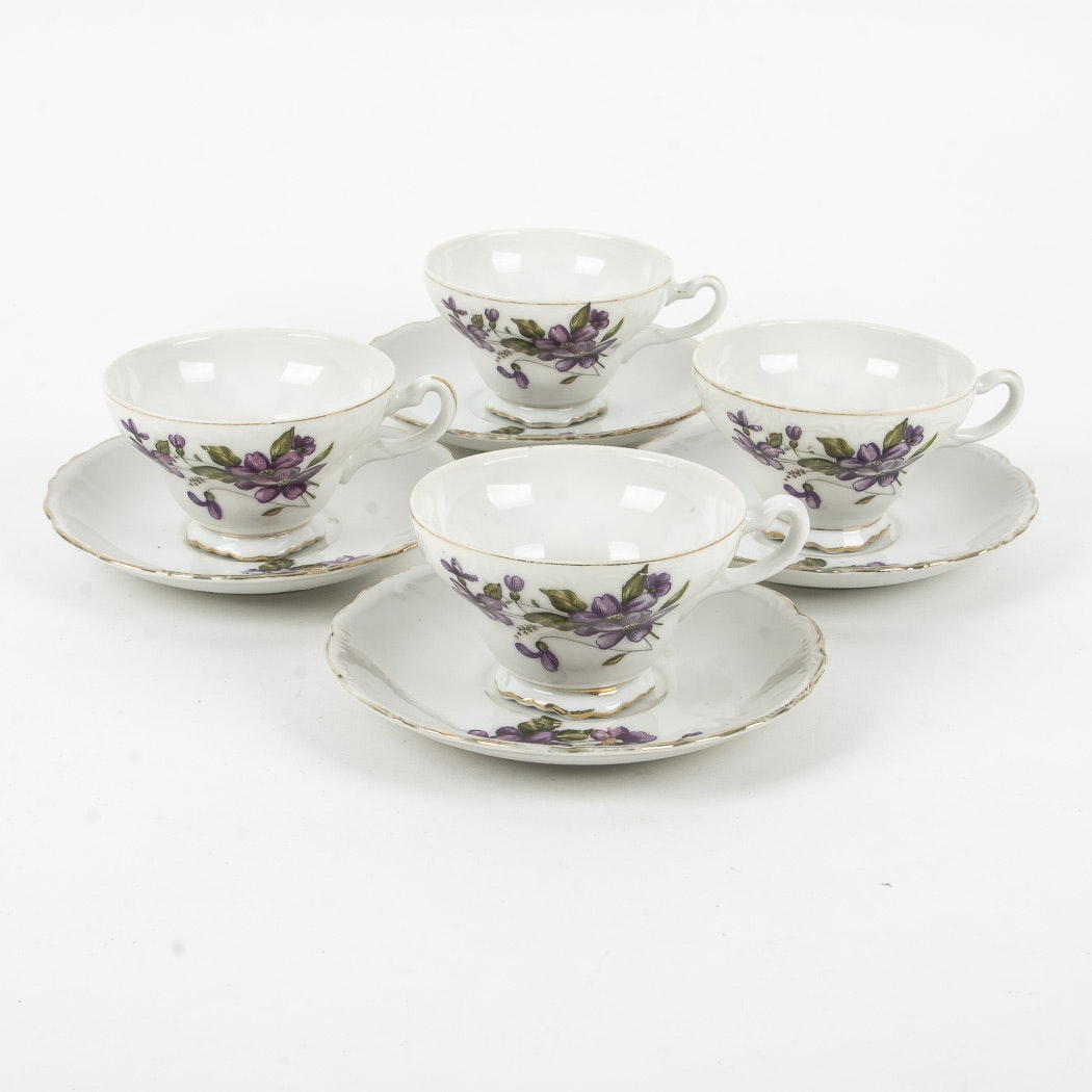 Japanese Tea Cups and Saucers