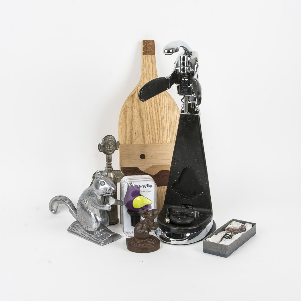 Wine Kitchenalia and Nutcrackers