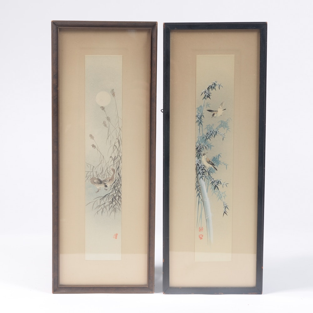 Early 20th Century East Asian Paintings of Birds