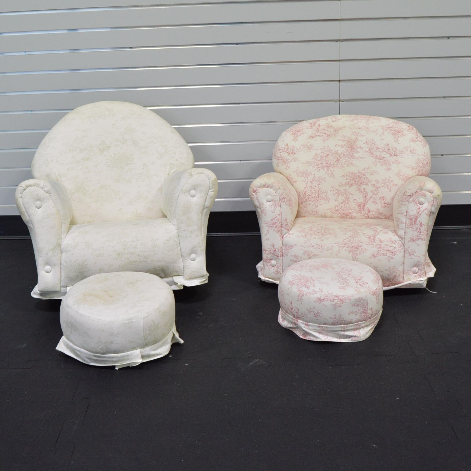 Childrenu0027s Upholstered Rocking Chairs And Ottomans ...